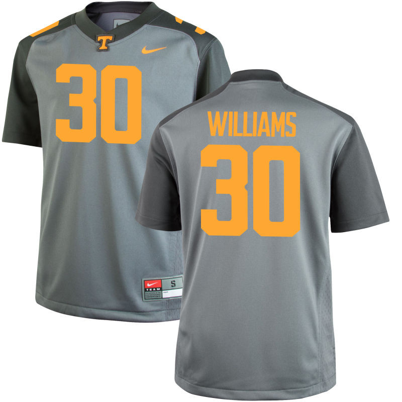 Men's Nike  #30 Limited Gray Tennessee Volunteers Alumni Football Jersey (Devin Williams)